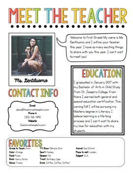 free meet the template 108 best school ideas images on activities for back to school and creative