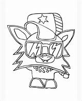 Moshi Coloring Monsters Pages Star Template Templates Colouring sketch template