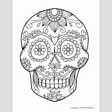 sugar skull drawing template lifestyle intech