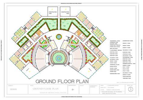 architecture college ground floor plan final print