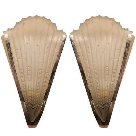deco wall sconces pair of deco wall sconces at 1stdibs