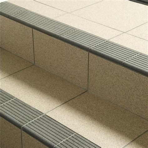 step tread dark grey porcelain tile