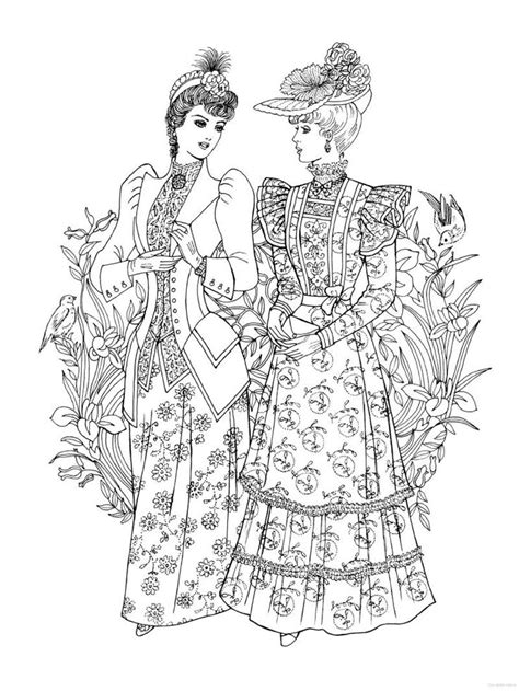 creative haven art nouveau fashions coloring book historical fashion coloring pages