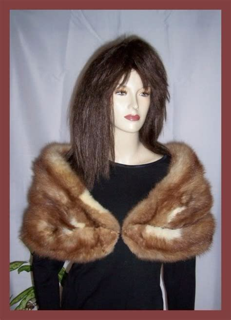 foto de Stone Marten Sable Fur Stole Shawl Wrap Cape Jacket