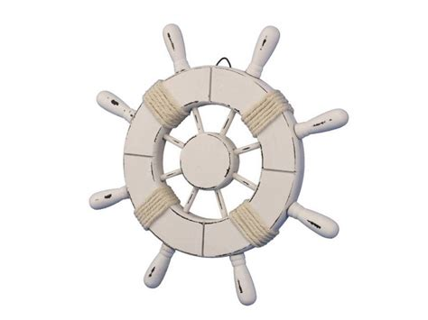 Boat Steering Wheel Home Decor by Buy Rustic All White Decorative Ship Wheel 9 Inch