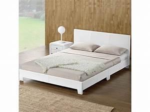 Cadre Lit 140x190 : lit adulte complet t te de lit cadre de lit simpli ~ Dallasstarsshop.com Idées de Décoration