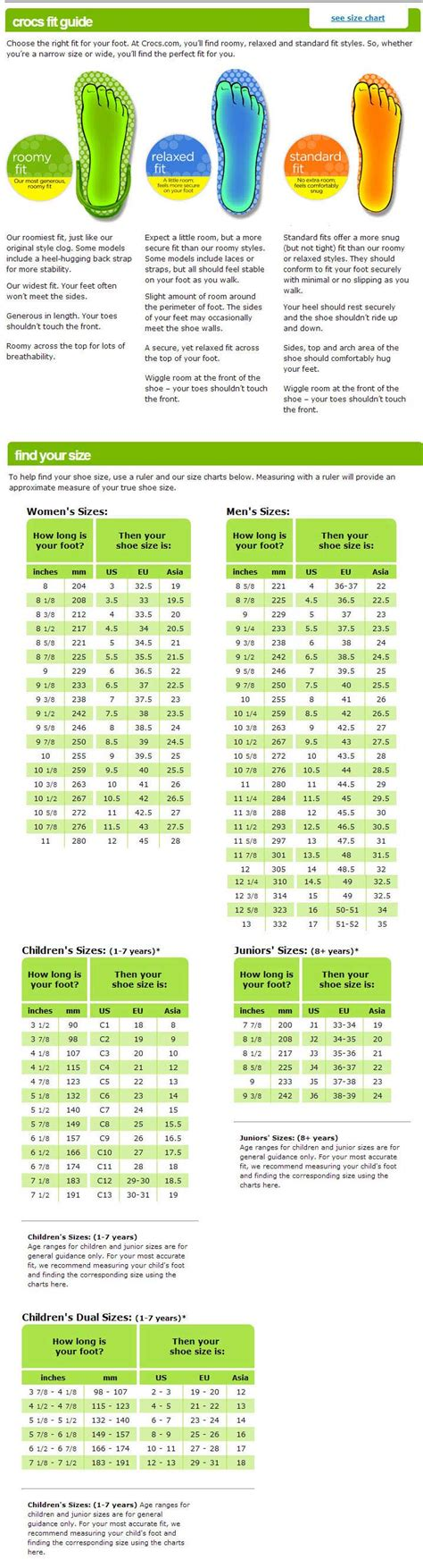 what to put in kitchen canisters crocs shoe sizing chart 28 images crocs shoe sizing