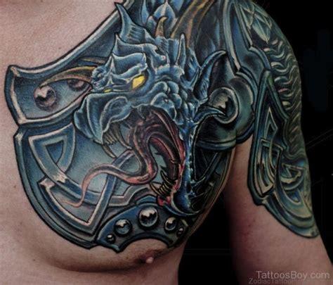 zodiac armour tattoos  chest