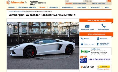 En Redressement Fiscal, Il Vend Sa Lamborghini Sur Le Bon