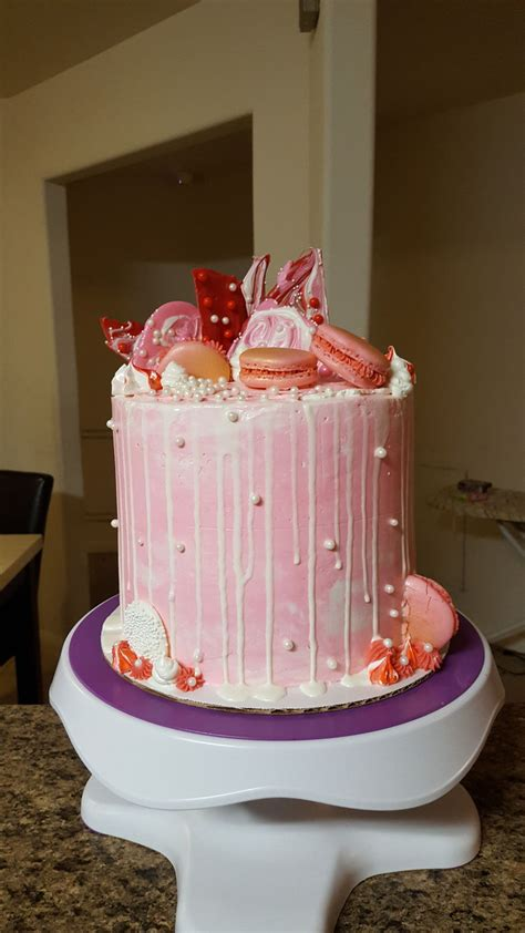 loaded drip cake cakecentralcom