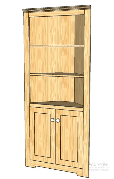 Ana White Diy Kitchen Cabinets by Corner Cabinets Plans Plans For Building Furniture