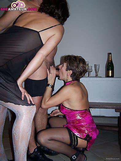 Mature Amateur Swingers Group Sex Session With Lesbian
