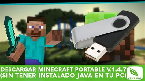 descargar minecraft portable sin instalar java en tu pc