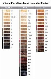 L 39 Oreal Paris Excellence Color Chart Loreal Hair Loreal
