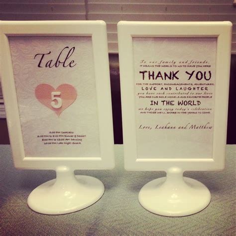 table numbers    wedding ikea tolsby frame