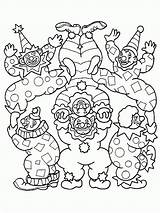 Coloring Pages Clown Circus Clowns Printable Scary Fun Coloring2print sketch template