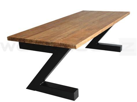industriele tafel teak woonloodznl