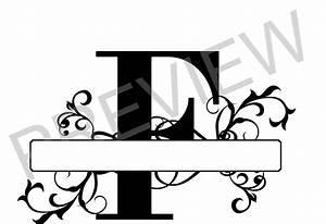 split monogram svg letter f regal split alphabet vector With letter f monogram
