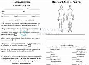Fitness Assessment Form For Women  Front  By Rlt