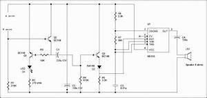 Rain Water Detector Project Circuit