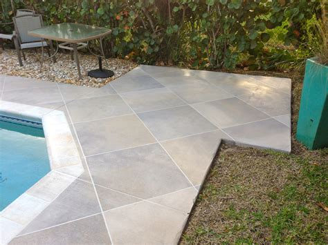 resurface pool deck with tile concrete designs florida concrete refinishing