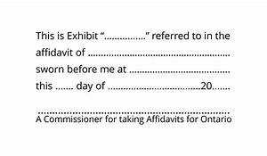 commissioner for affidavits exhibit stamp ontario With adobe exhibit stamp