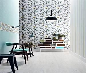 tapete schoner wohnen 4 grau weiss grun 2692 18 With balkon teppich mit tapeten schöner wohnen kollektion