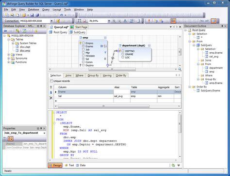 enjoy creating complex queries  sql query builder