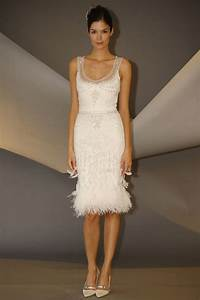 carolina herrera fall short wedding dress with feather With short dresses for wedding