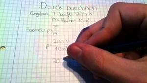 Durchschnittsgeschwindigkeit Berechnen Physik : druck berechnen lernen physik anleitung youtube ~ Themetempest.com Abrechnung