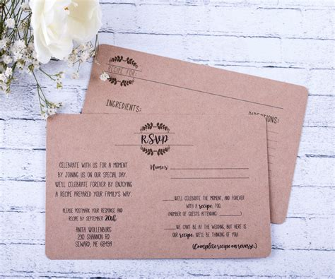Maybe you would like to learn more about one of these? Rustic RSVP Wedding Response Card and Recipe Cards Wedding   Etsy