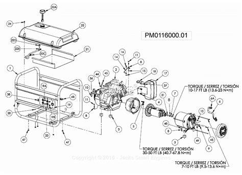 Powermate Air Compressor Wiring Diagram by Powermate Formerly Coleman Pm0116000 01 Parts Diagram For