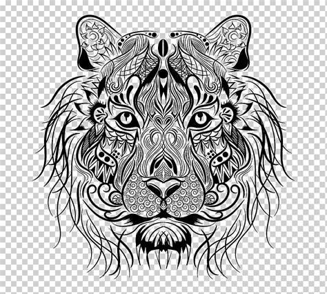 Pero no es el tigre blanco no es albino. Libro para colorear tigre león dibujo, tigre, blanco, niño ...