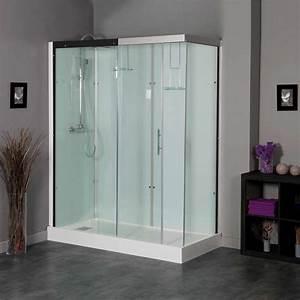 baignoire salle de bain brico depot With porte de douche coulissante avec meuble salle de bain bois brico depot