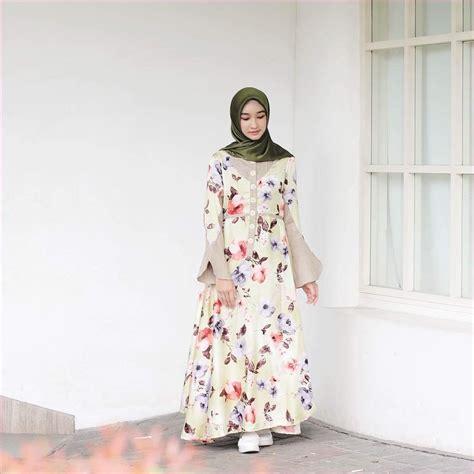 Outfit Baju Hijab Casual Untuk Perempuan Gemuk Ala Selebgram 2018 abaya gamis tangan terompet ...