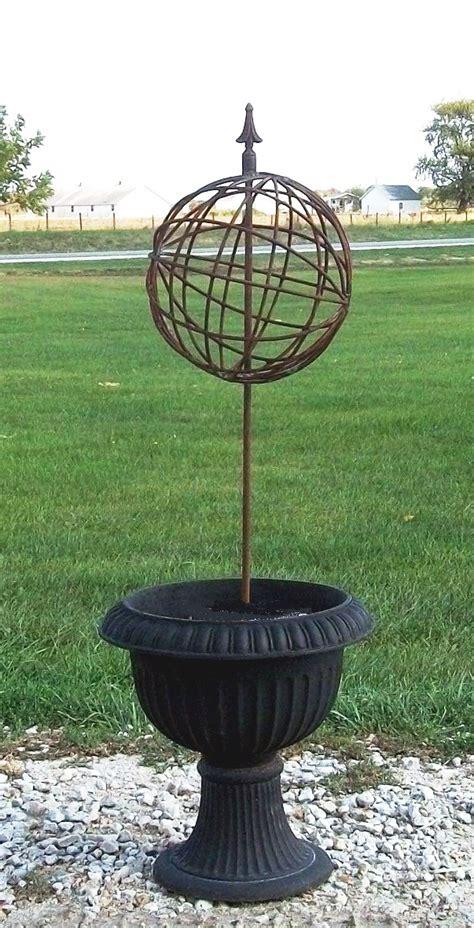 Orbit Sphere Metal Topiary