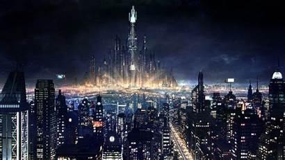 Future Night Skyline Andre Surya Metropolis Karya