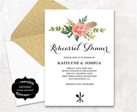 Printable Rehearsal Dinner Invitation Card Template