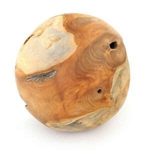 deko kugel teak holz ca 30 cm rund einzelst 220 ck individuell holzkugel garten ebay