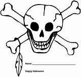 Skeleton Coloring Skull Halloween Scary Printable Chief Printables Indian Masks Drawing Crossbones Skeletons Bones Sheets Templates Getdrawings sketch template