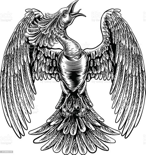 Recently the new phoenix animal was added to mope! Phoenix Fire Bird In Vintage Woodcut Style Stock ...