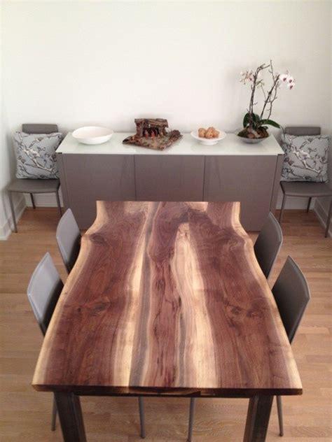 live edge black walnut dining table reclaimed black walnut live edge dining table modern