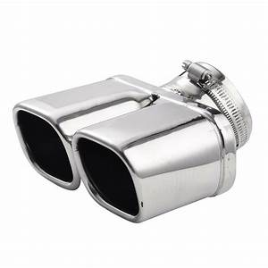 Car Stainless Steel Dual Muffler End Exhaust Trim Tail