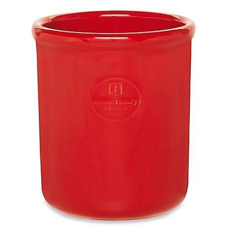 Buy Emile Henry Utensil Holder Crock in Red from Bed Bath