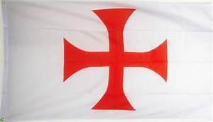 KNIGHTS TEMPLAR RED CROSS FLAG 5X3 Christian Crusades ...