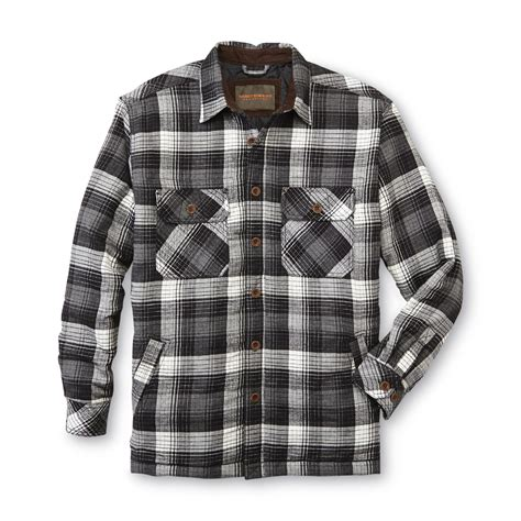 flannel shirt jacket with quilted lining northwest territory s big quilted flannel shirt