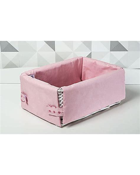 picci cestino portaoggetti rivestito rosa