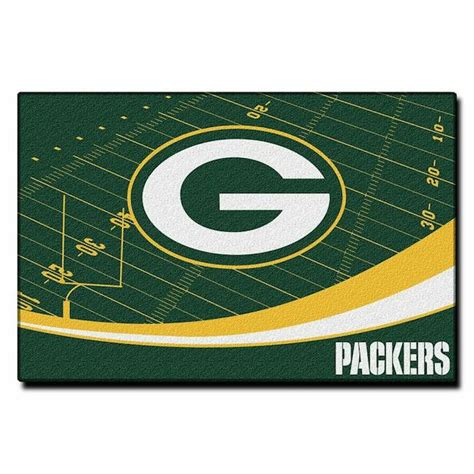 green bay packers bathroom rug set nfl green bay packers 40x60 tufted rug buy at team