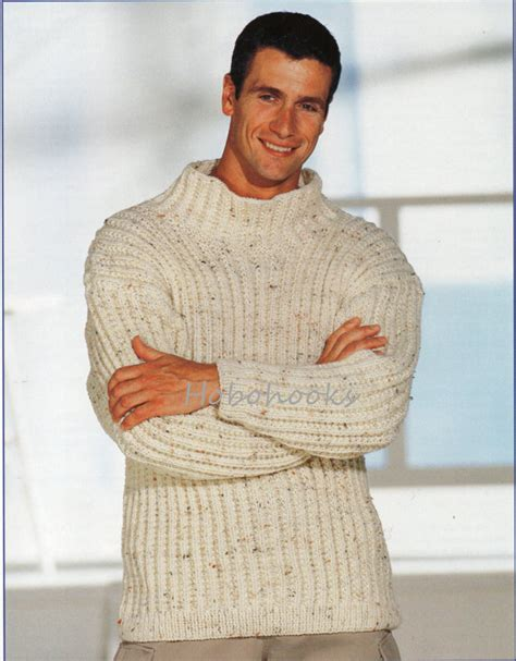 mens chunky knit sweater mens knitting pattern mens chunky ribbed sweater mens