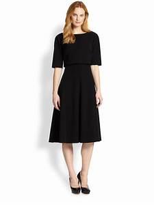 Dressing New York : lyst lafayette 148 new york julissa layered dress in black ~ Dallasstarsshop.com Idées de Décoration